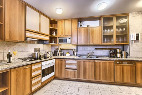 Spacious and fully equipped kitchen in apartment number 52, Residence Brehova