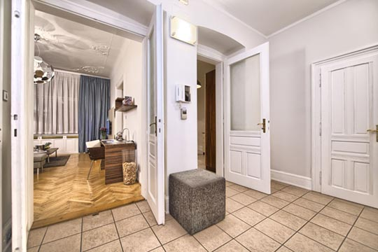 The Residence Brehova one bedroom apartment entry hall