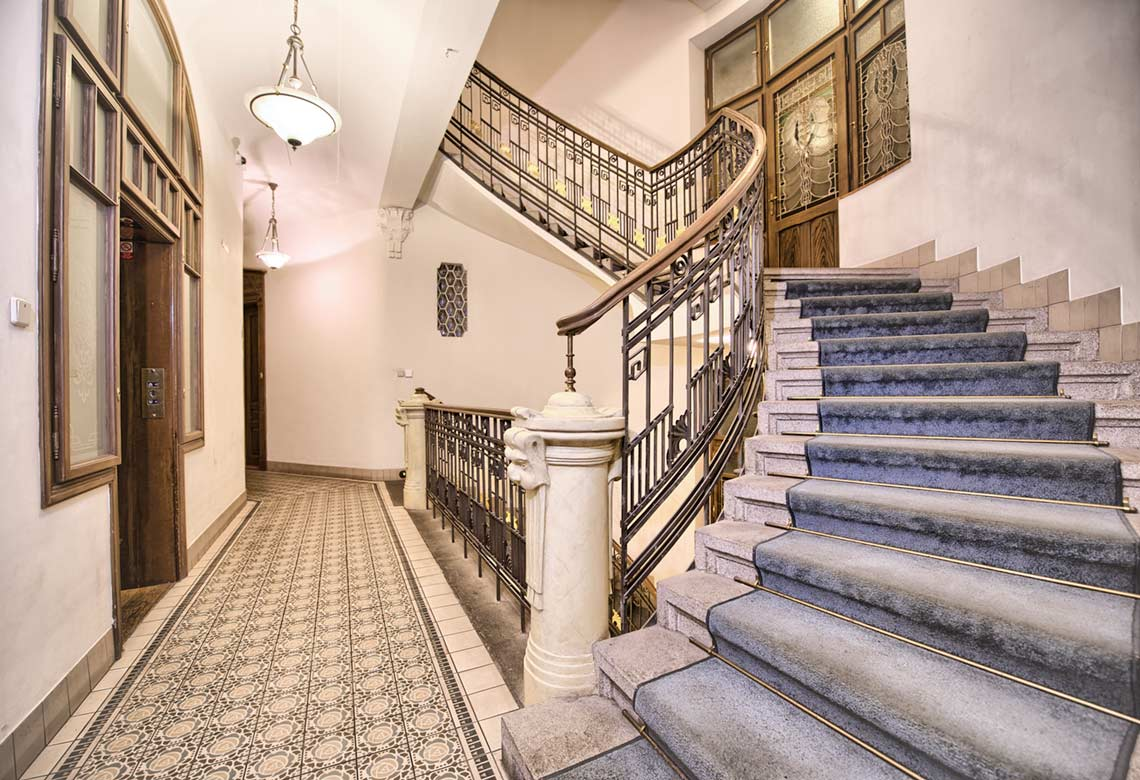 The Residence Brehova staircase
