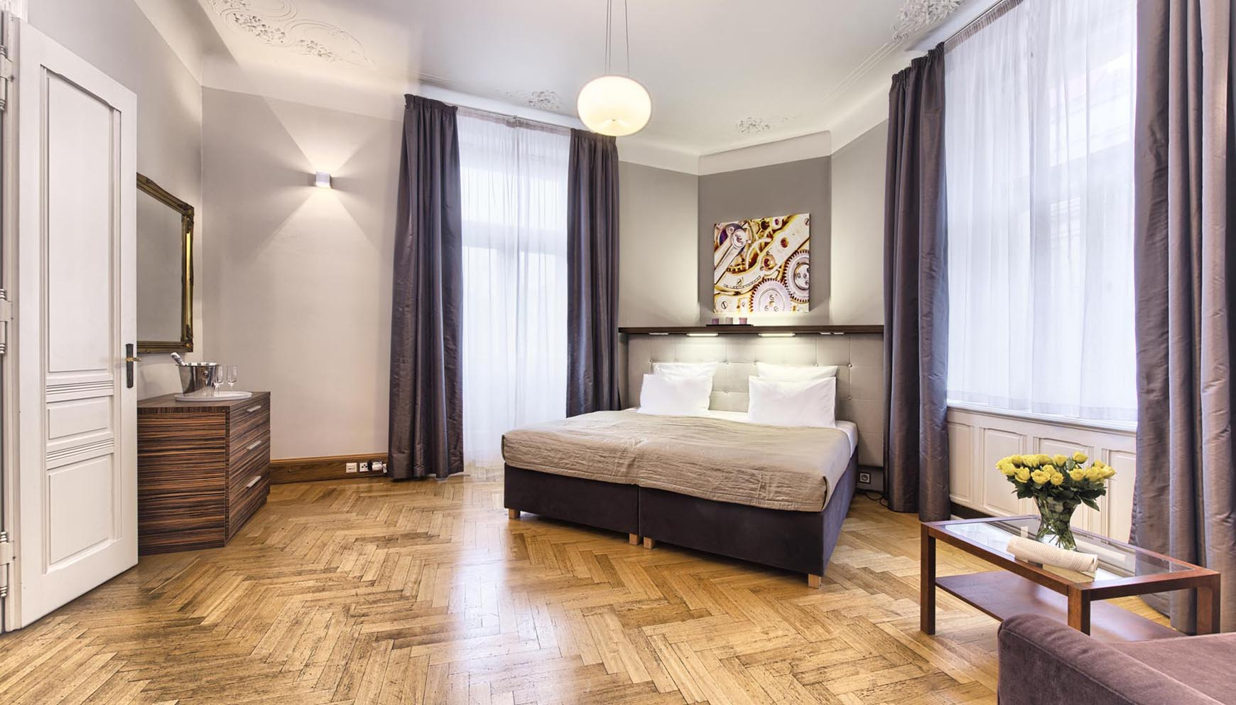 Master Bedroom in a three bedroom apartment in Residence Brehova