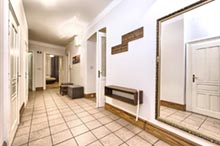 Hall in a three bedroom apartment in Residence Brehova