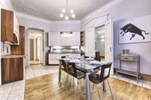 Kitchen in a three bedroom apartment in Residence Brehova