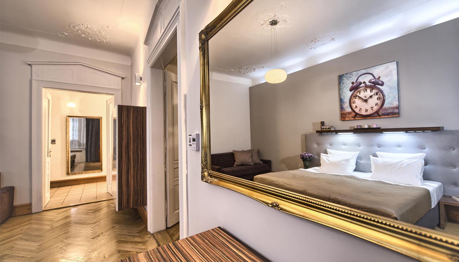 First Bedroom In A Two Bedroom Apartment In Residence Brehova